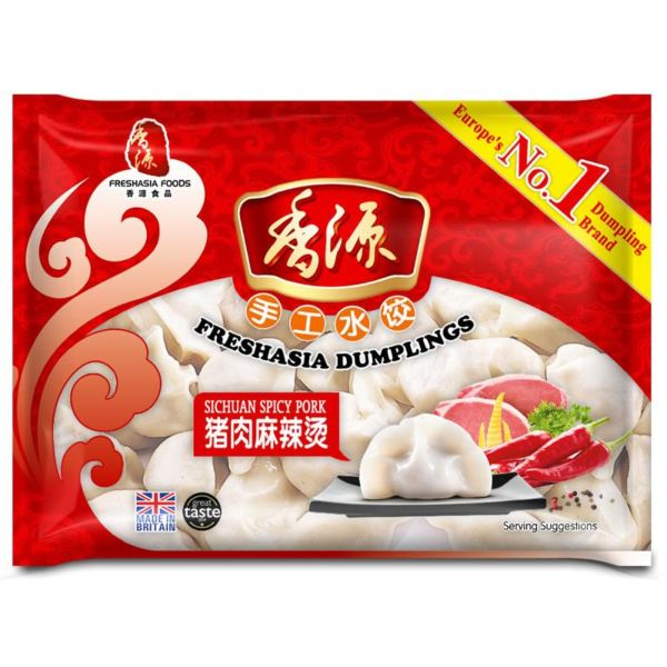 Fresh Asia Hot & Spicy Pork Dumplings