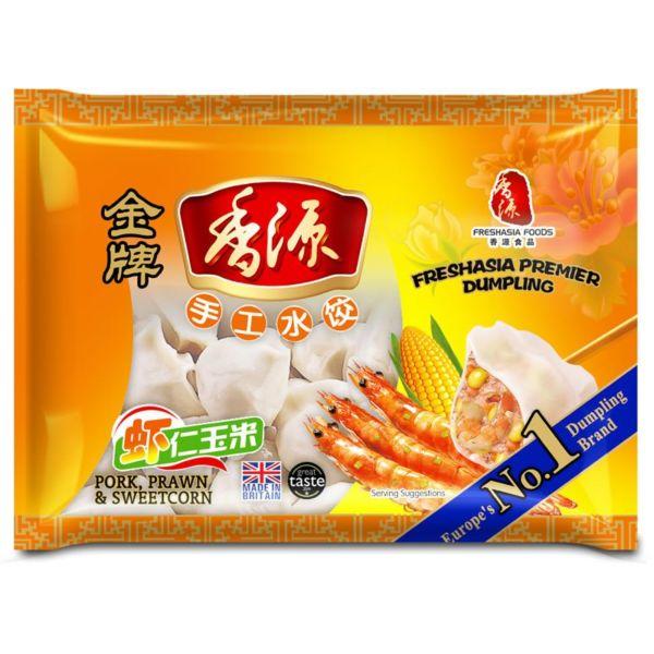 Fresh Asia Pork & Prawn Sweetcorn Dumplings