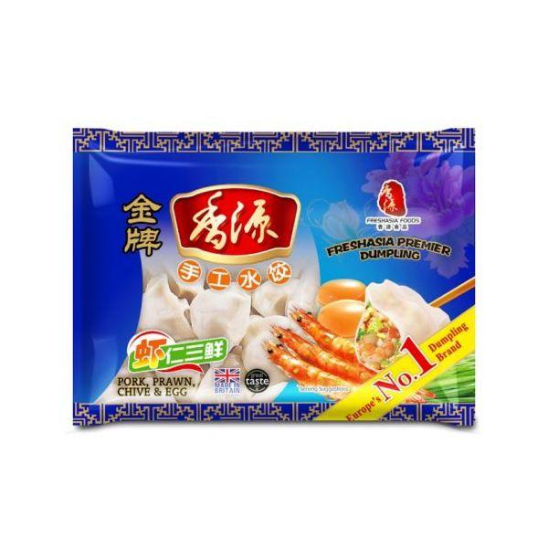 Fresh Asia Pork & Prawn Chive Egg Dumplings