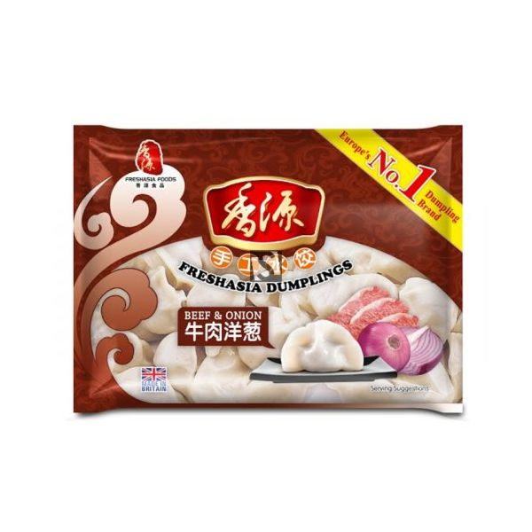 Fresh Asia Beef & Onion Dumplings 400g