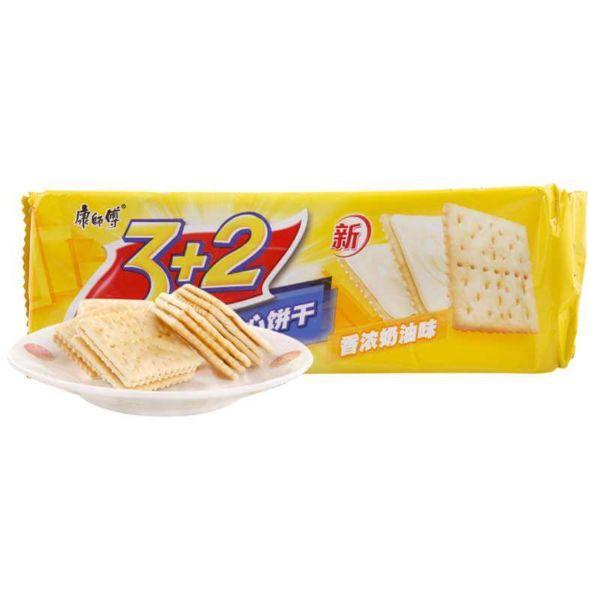 康师傅 3+2苏打夹心香浓奶油味 125g