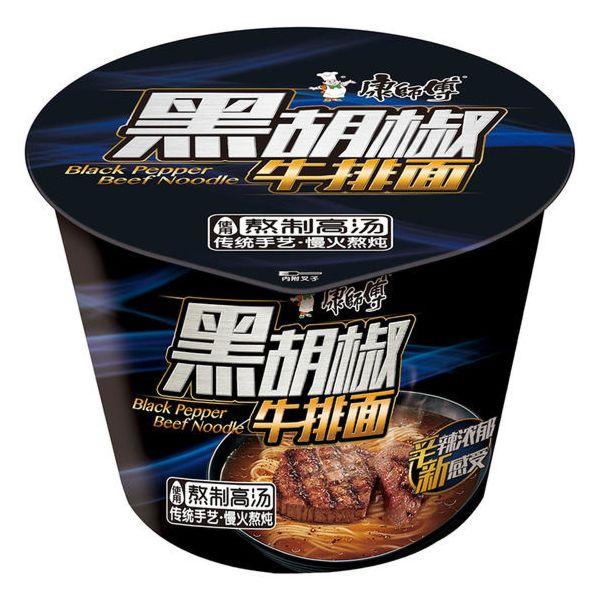 康师傅经典桶(黑胡椒铁板牛肉) 108g