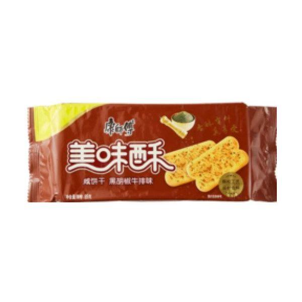 康师傅 美味酥 - 黑胡椒牛排味 70g