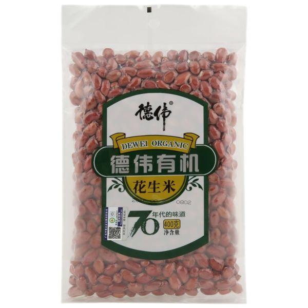 德伟有机红花生米 400g