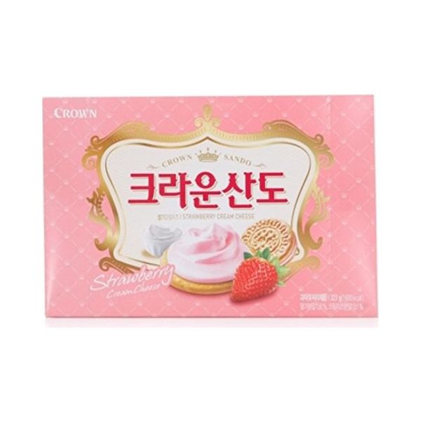 Crown 草莓夹心饼 161g