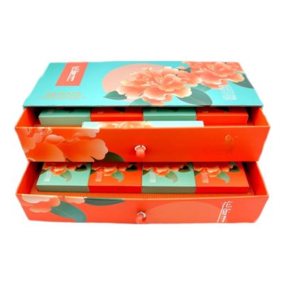 花宴月礼盒月饼 (蛋黄糖醇柑橘桂花/ 柠蜜蛋黄) 8x60g