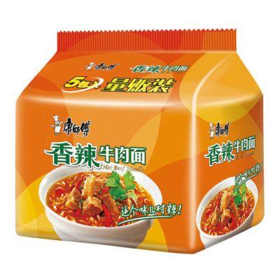 康师傅经典5入 - 香辣牛肉味 5x105g