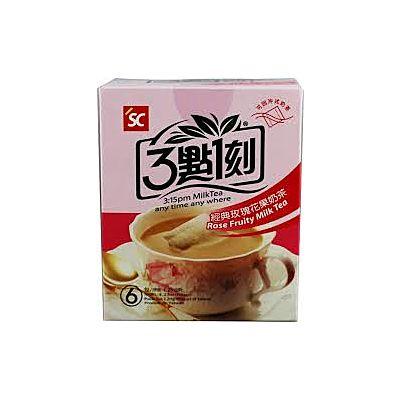 玫瑰花果奶茶