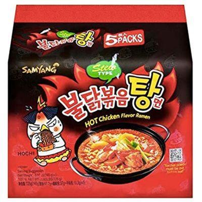 Samyang 辣鸡拉面 - 炖汤 (5包装) 725g