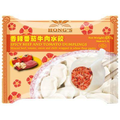 鸿字香辣番茄牛肉水饺 410g