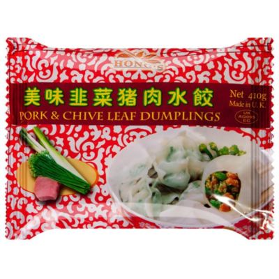 鸿字猪肉韭菜水饺 410g