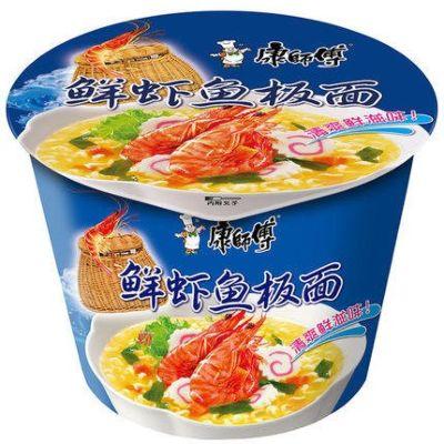 康师傅开心鲜虾鱼面(桶)