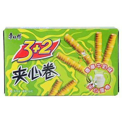 康师傅 夹心卷香草牛奶味 55g