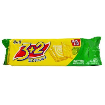 康师傅 3+2苏打夹心饼干 - 清新柠檬味 125g