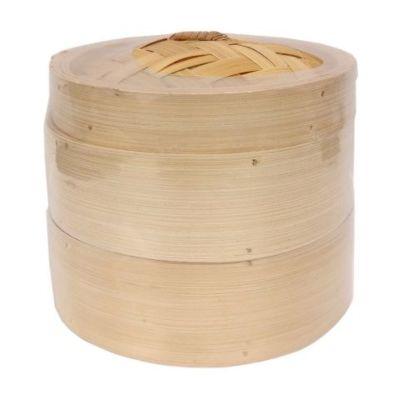 竹蒸笼 二笼一盖 (8寸)