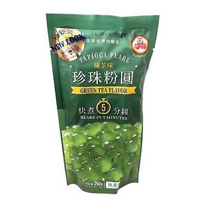 五福圆珍珠粉圆 - 绿茶味 250g