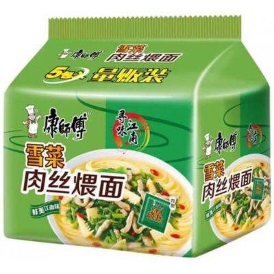 康师傅 雪菜肉丝煨面 (5包装) 5x107g