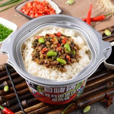 自嗨锅 毛豆炒肉煲仔饭自热锅 245g