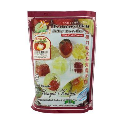 快乐草 水晶蒟蒻果冻粉 - 荔枝口味 120g