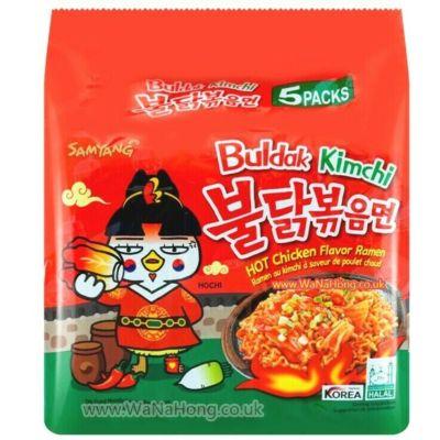 Samyang 辣鸡拉面 - 泡菜 (5包装) 675g